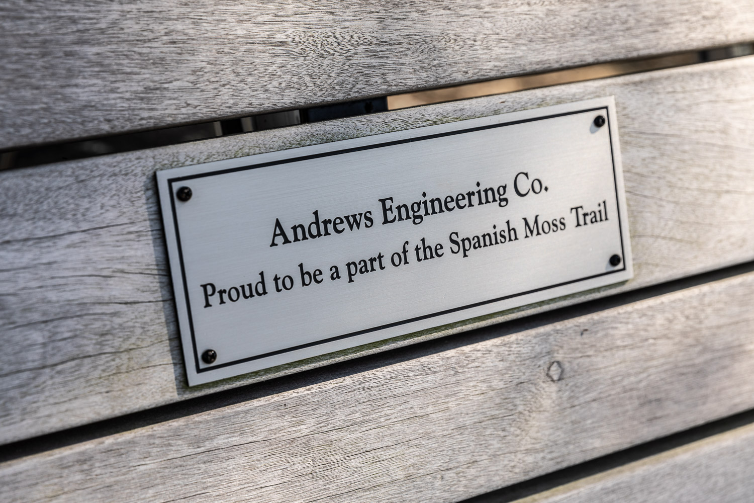 Andrews Engineering Bench on Spanish Moss Trail