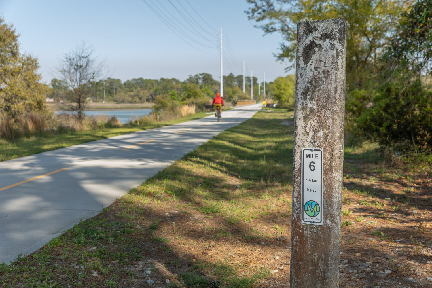 Trail Marker on Spanish Moss Trail