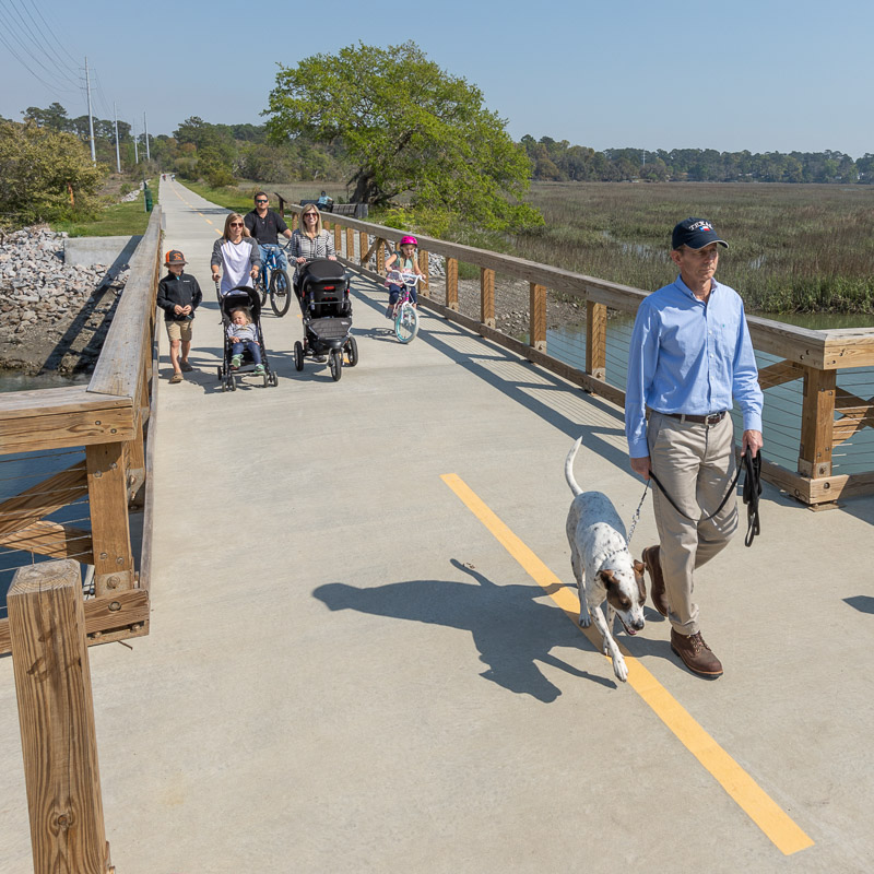 Spanish Moss Trail surveying and engineering